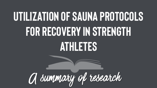 Sauna for Recovery in Athletes