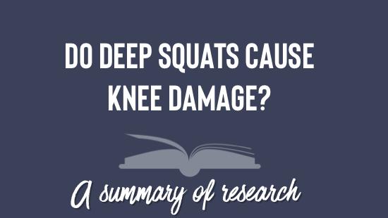 Do deep squats cause knee damage?