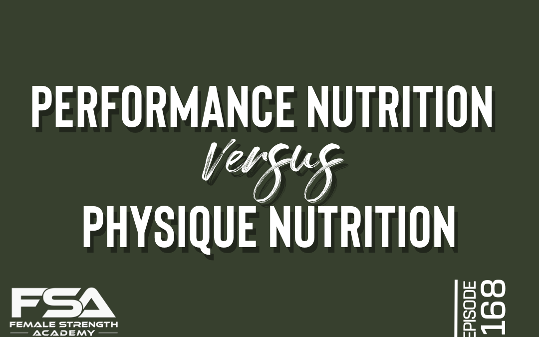 performance physique nutrition